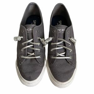 Sperry Topsider Crest Vibe Sparkle Grey  Sneakers